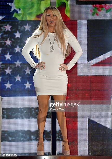 Jenna Jameson is evicted from the Celebrity Big Brother house ahead of the final on Thursday September 24, at Elstree Studios on September 22, 2015...