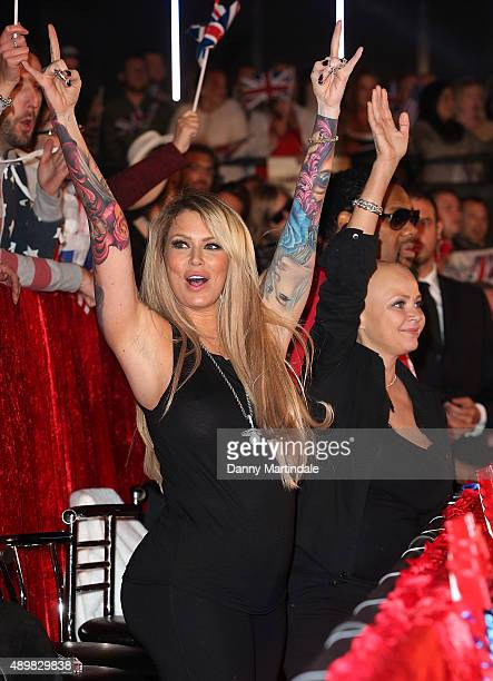 Jenna Jameson is seen at the Celebrity Big Brother final at Elstree Studios on September 24 2015 in Borehamwood England