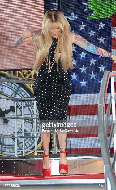 Jenna Jameson is the 4th celebrity evicted from the Big Brother house at Elstree Studios on September 11 2015 in Borehamwood England