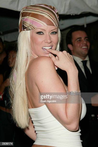 Jenna Jamison at Britney Spears' NYLA Restaurant grand opening at the Dylan Hotel in New York City June 27 2002 Photo Evan Agostini/Getty Images