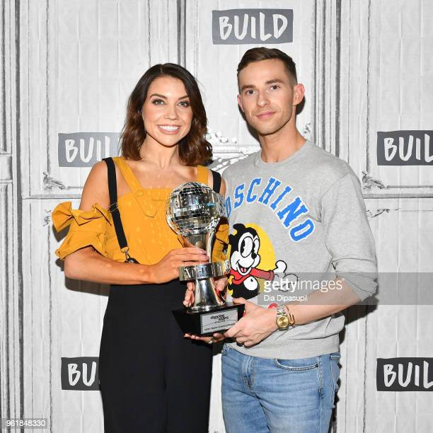 Jenna Johnson and Adam Rippon visit the Build Series to discuss 'Dancing with The Stars Athletes' at Build Studio on May 23 2018 in New York City