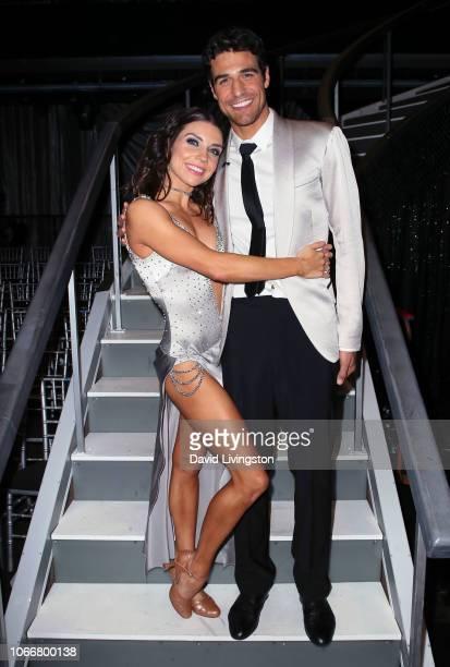 Jenna Johnson and Joe Amabile pose at Dancing with the Stars Season 27 at CBS Television City on November 12 2018 in Los Angeles California