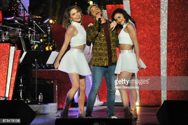 Jenna Johnson Jordan Fischer and Hayley Erbert perform onstage during A California Christmas at The Grove Presented by Citi on November 12 2017 in...
