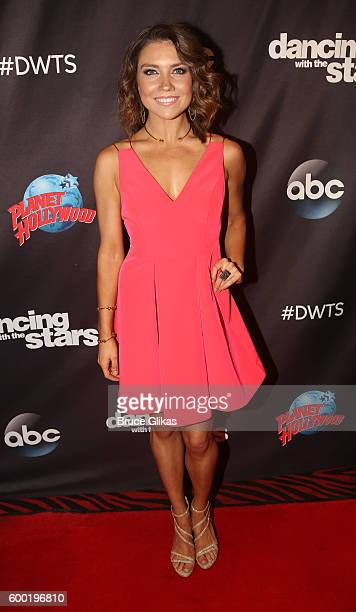 Jenna Johnson poses as Season 23 of 'Dancing With The Stars' meets the press at Planet Hollywood Times Square on September 7 2016 in New York City