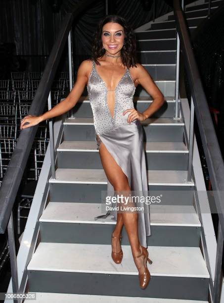 Jenna Johnson poses at Dancing with the Stars Season 27 at CBS Television City on November 12 2018 in Los Angeles California
