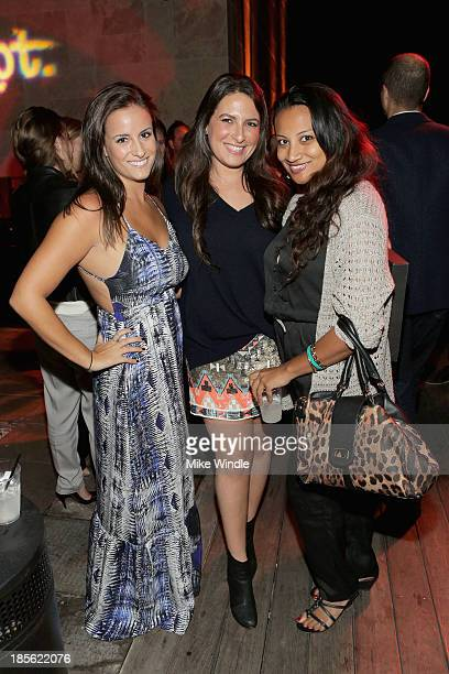 Jenna Klein Alyssa Some and Kat Jawaharlal attend PR DEPT Celebrates #onedown 1 Year Anniversary Party at Thompson Hotel on October 22 2013 in...