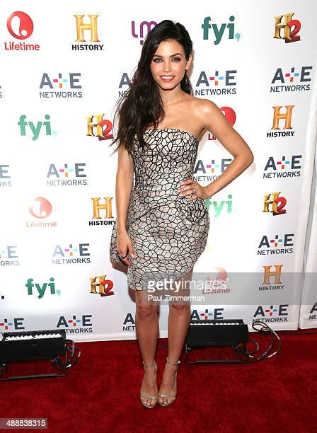 Jenna Lee DewanTatum attends the 2014 AE Networks Upfront at Park Avenue Armory on May 8 2014 in New York City