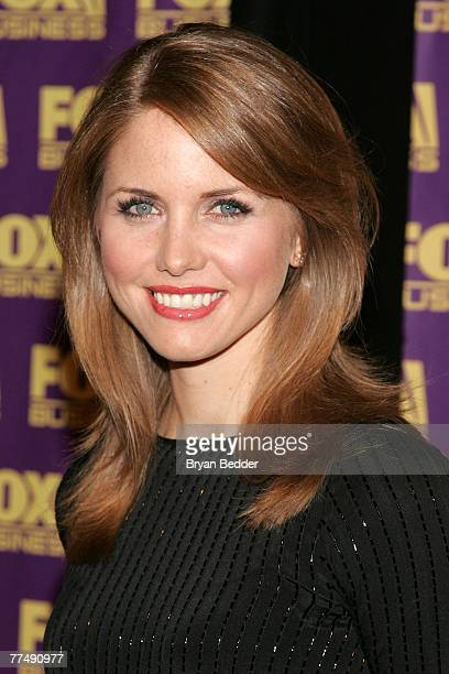 Jenna Lee of Fox Business News arrives at the Fox Business Network launch party at the Metropolitain Museum of Arts on October 24 2007 in New York...