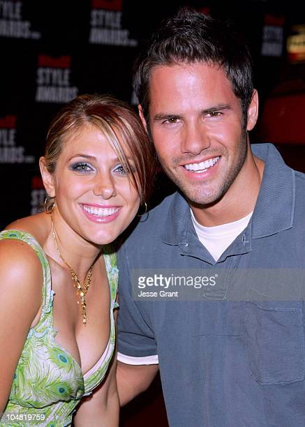 Jenna Lewis and guest during 2005 Stuff Style Awards Mercury on the Red Carpet at Hollywood Roosevelt Hotel in Los Angeles California United States