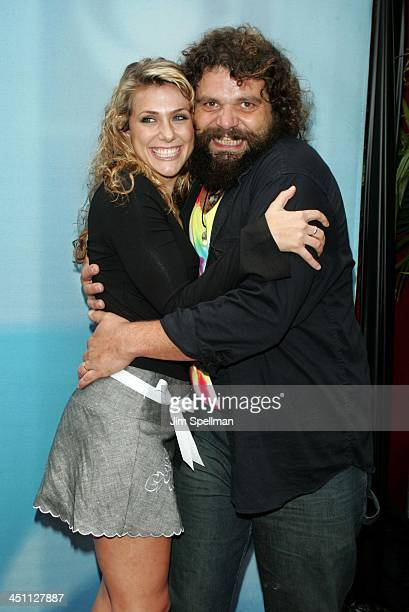 Jenna Lewis and Rupert Boneham during CBS Prime Time 20042005 Upfront at Tavern on the Green in New York City New York United States