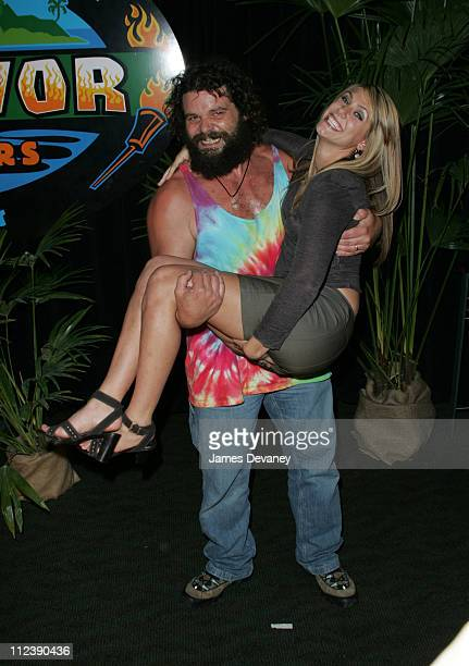 Jenna Lewis and Rupert Boneham during Survivor AllStars Castaways at Madison Square Garden in New York City New York United States
