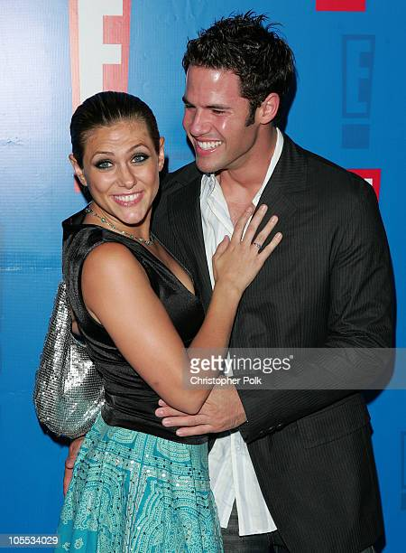 Jenna Lewis and Steven Hill during E Entertainment Television's 2005 Summer Splash Event Arrivals at Tropicana Bar at the Roosevelt Hotel in...