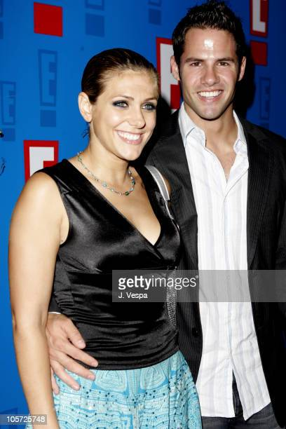 Jenna Lewis and Steven Hill during E Entertainment Television's 2005 Summer Splash Event Red Carpet at Tropicana at The Hollywood Roosevelt Hotel in...
