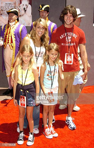Jenna Lewis and Travis Wolfe during The Princess Diaries 2 Royal Engagement World Premiere Arrivals at AMC Downtown Disney in Anaheim California...