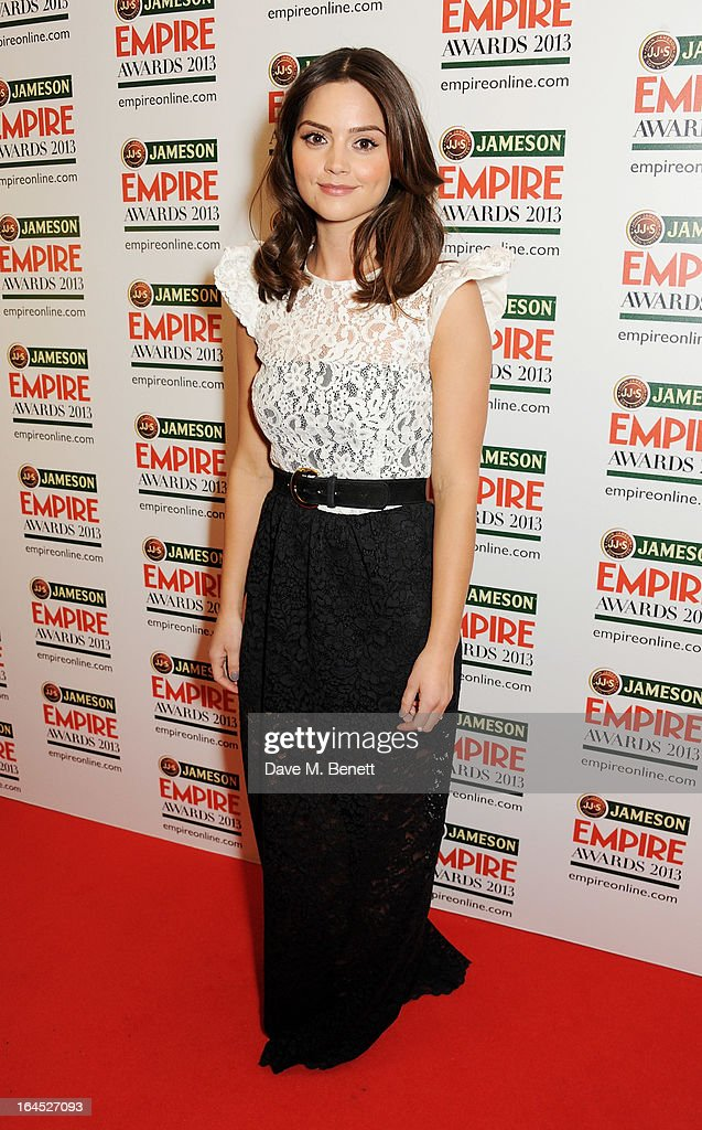 Jenna Louise Coleman poses in the press room at the