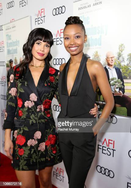 Jenna Lyng Adams and Ashleigh LaThrop attend the Los Angeles Premiere of 'The Kominsky Method ' at AFI Fest at TCL Chinese Theatre on November 10...