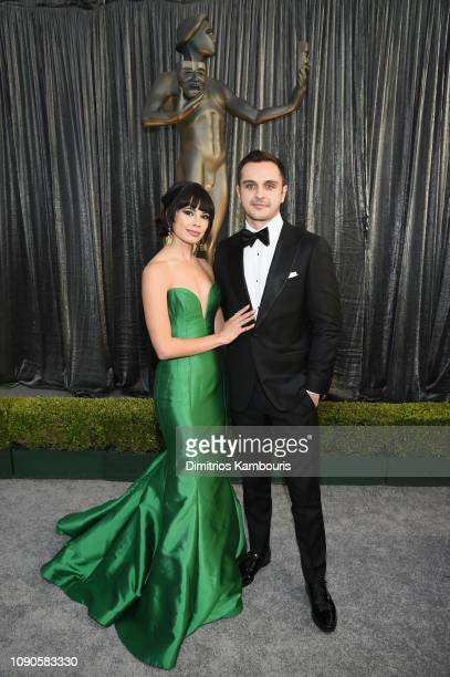 Jenna Lyng Adams and guest attend the 25th Annual Screen ActorsGuild Awards at The Shrine Auditorium on January 27 2019 in Los Angeles California...