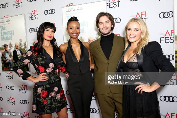 Jenna Lyng Adams Ashleigh LaThrop Casey Thomas Brown and Emily Osment attend the Los Angeles Premiere of 'The Kominsky Method ' at AFI Fest at TCL...