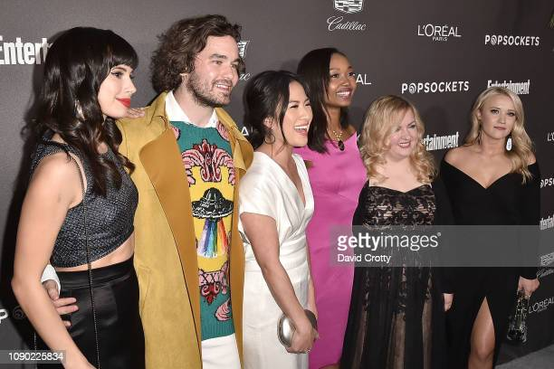 Jenna Lyng Adams Casey Thomas Brown Melissa Tang Ashleigh LaThrop Sarah Baker and Emily Osment attend the Entertainment Weekly PreSAG Party Arrivals...