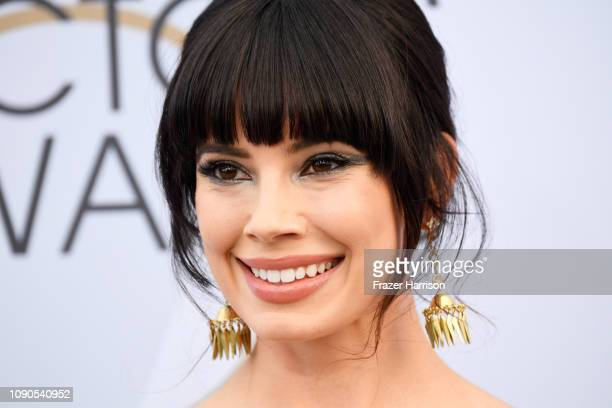 Jenna Lyng Adams jewelry detail attends the 25th Annual Screen ActorsGuild Awards at The Shrine Auditorium on January 27 2019 in Los Angeles...