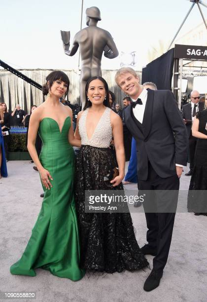 Jenna Lyng Adams Melissa Tang and Graham Rogers attend the 25th Annual Screen ActorsGuild Awards at The Shrine Auditorium on January 27 2019 in Los...