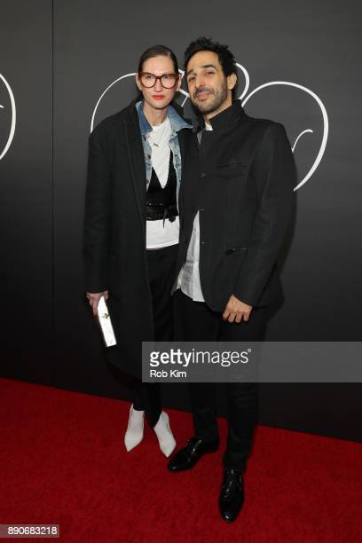 Jenna Lyons and Amir Arison attend the New York Premiere of 'Phantom Thread' at Harold Pratt House on December 11 2017 in New York City