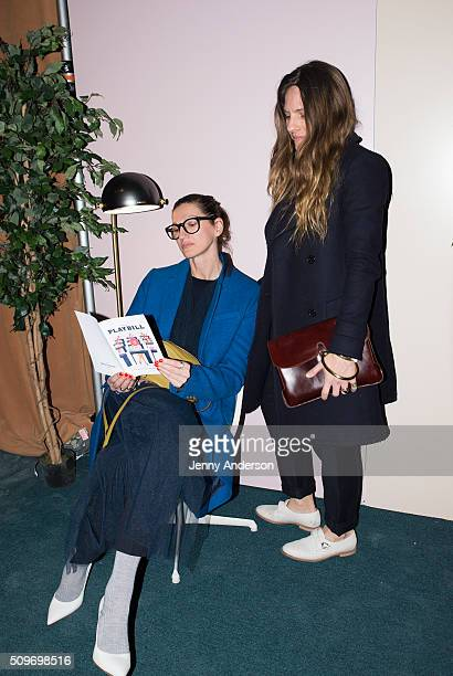 Jenna Lyons and Courtney Crangi attend Rachel Antonoff Presentation during the Fall 2016 New York Fashion Week at Grace Building on February 11 2016...