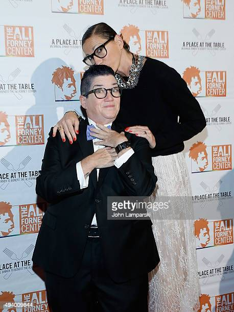 Jenna Lyons and Lea DeLaria attend 2015 Ali Forney Centers' A Place At The Table fundraiser at Capitale on October 23 2015 in New York City