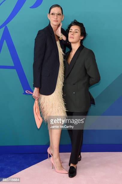 Jenna Lyons and Roberta Colindrez attend the 2017 CFDA Fashion Awards at Hammerstein Ballroom on June 5 2017 in New York City