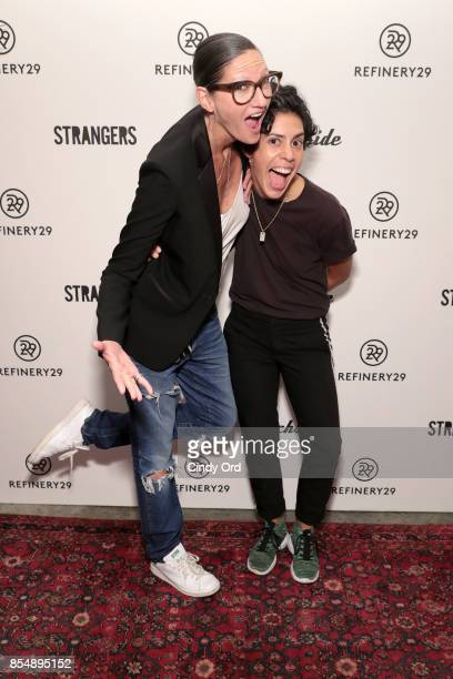 Jenna Lyons and Roberta Colindrez attend the Refinery29 and Beachside Productions Strangers series party at The Metrograph Theater on September 27...
