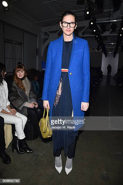 Jenna Lyons attends A Detacher fashion show during Fall 2016 New York Fashion Week at Pier 59 on February 11 2016 in New York City