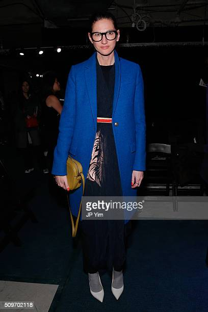 Jenna Lyons attends the Rachel Antonoff Presentation during Fall 2016 New York Fashion Week at the Grace Building on February 11 2016 in New York City