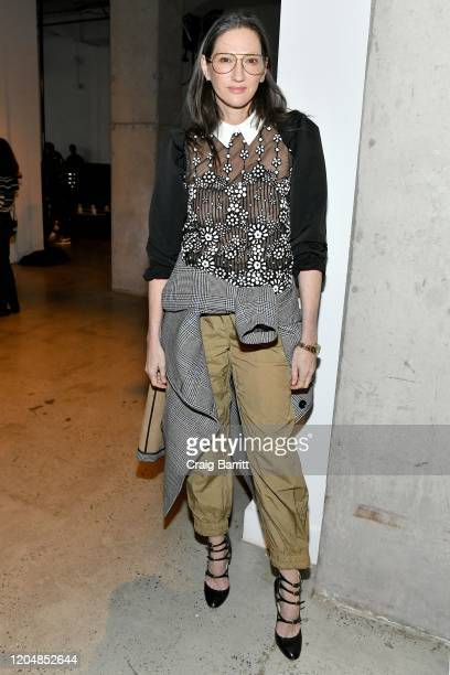 Jenna Lyons attends the SelfPortrait Fall Winter 2020 fashion show on February 08 2020 in New York City