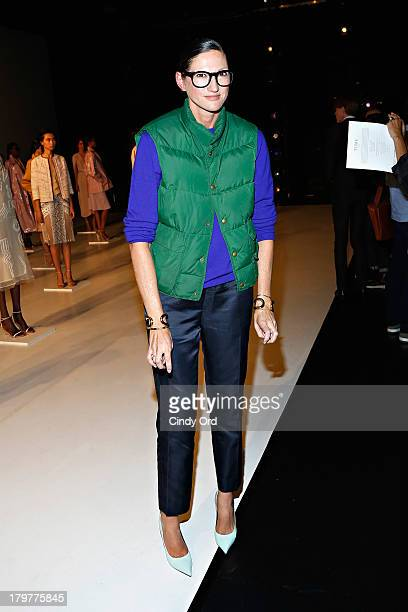 Jenna Lyons attends the Tome presentation during Spring 2014 MercedesBenz Fashion Week at New York Live Arts on September 6 2013 in New York City