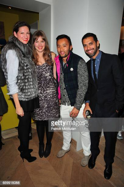 Jenna Lyons Christine Tasche Somsack Sikhounmuong and Tom Mora attend CREWCUTS celebrate 'Mimi's Shoes' with the WILDLIFE CONSERVATORY SOCIETY at...