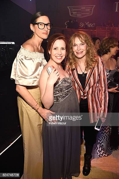 Jenna Lyons Dylan Farrow and Mia Farrow attend the 2016 Time 100 Gala Time's Most Influential People In The World at Jazz At Lincoln Center at the...