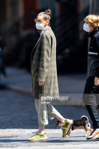 Jenna Lyons is seen in SoHo on April 25, 2020 in New York City.