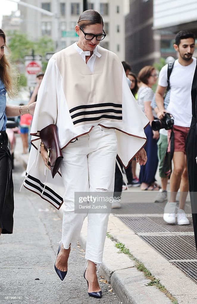 Jenna Lyons is seen outside the Altuzarra show during New York Fashion Week 2016 on September 12, 2015 in New York City.