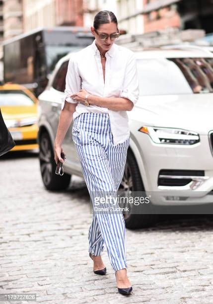 Jenna Lyons is seen outside the Cynthia Rowley show during New York Fashion Week S/S20 on September 10 2019 in New York City