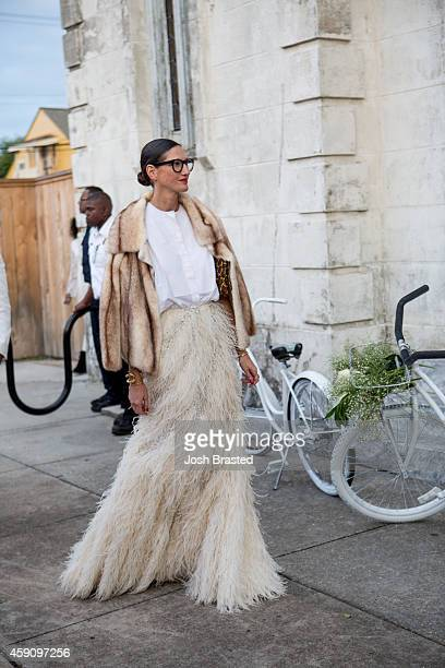 Jenna Lyons outside of the wedding ceremony of musician Solange Knowles and music video director Alan Ferguson at the Marigny Opera House on November...