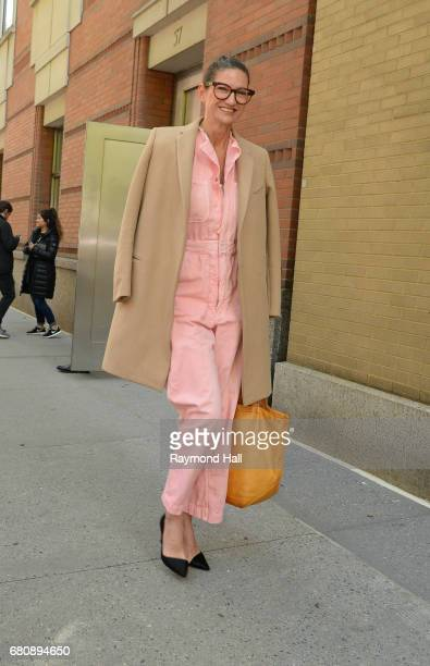"""Jenna Lyons seen outside """"Good Morning America"""" on May 9, 2017 in New York City."""