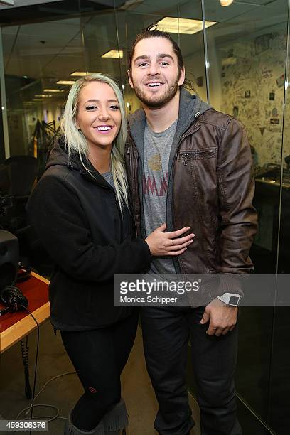 Jenna Marbles and Julien Solomita visit SiriusXM Studios on November 20 2014 in New York City
