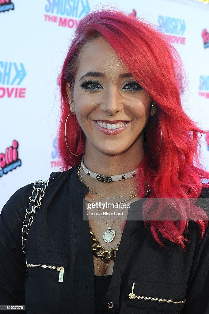 Jenna Marbles attends the premiere of