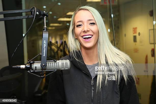 Jenna Marbles visits SiriusXM Studios on November 20 2014 in New York City