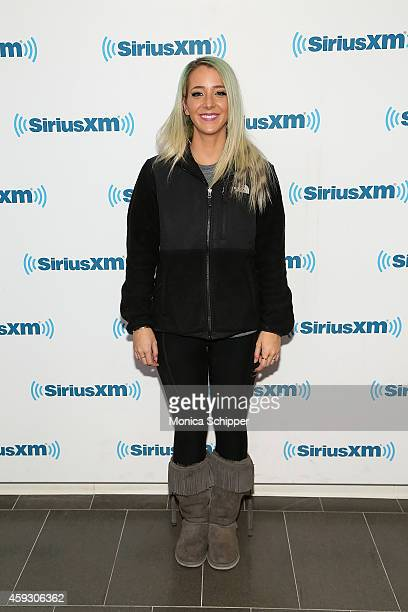 Jenna Marbles visits SiriusXM Studios on November 20 2014 in New York City