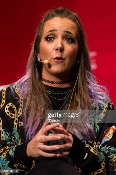 Jenna Marbles YouTube Star attends the Day 3 of the RISE Conference 2018 at Hong Kong Convention and Exhibition Centre on July 12 2018 in Hong Kong
