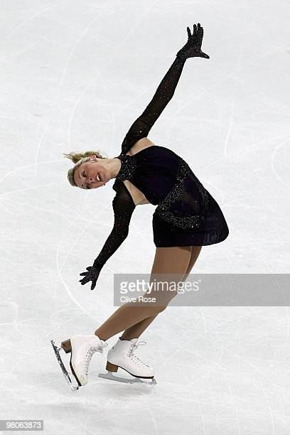 Jenna McCorkell of Great Britain competes during the Ladies Short Program during the 2010 ISU World Figure Skating Championships on March 25 2010 at...