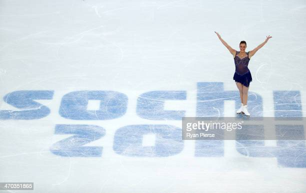 Jenna McCorkell of Great Britain competes in the Figure Skating Ladies' Short Program on day 12 of the Sochi 2014 Winter Olympics at Iceberg Skating...