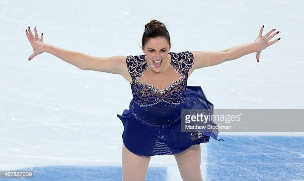 Jenna McCorkell of Great Britain competes in the Figure Skating Team Ladies Short Program during day one of the Sochi 2014 Winter Olympics at Iceberg...