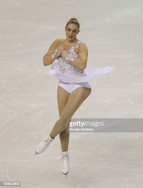 Jenna McCorkell of Great Britain competes in the Ladies Free Skating during the 2013 ISU World Figure Skating Championships at Budweiser Gardens on...